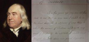 Jeremy Bentham  Unpublished manuscript on torture  Archives at University College London
